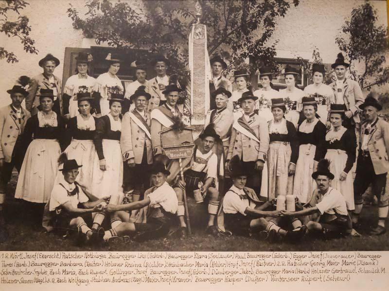 Vereinsfoto im Jahr 1933